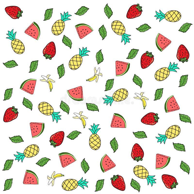 Modelo de frutas tropicales fotos de archivo