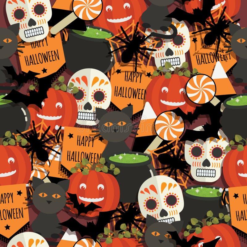 Modelo de Halloween stock de ilustración