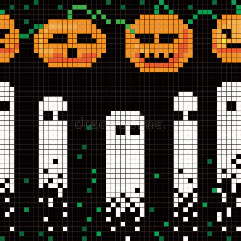 Modelo de Halloween del pixel ilustración del vector