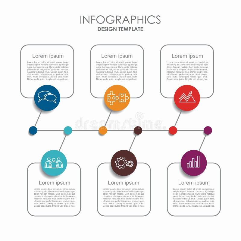 Modelo de Infographic puede ser utilizado para la disposición del flujo de trabajo, diagrama, opciones del paso del negocio, band ilustración del vector