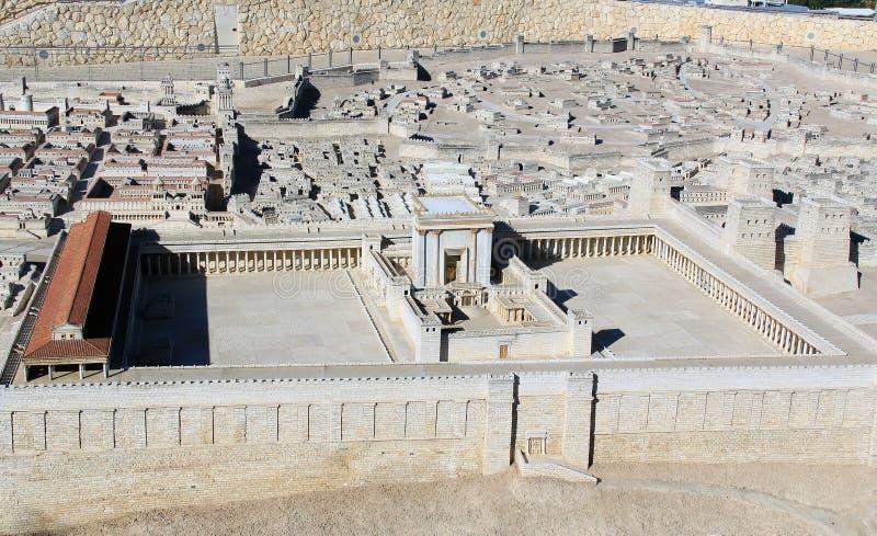 Modelo de Jerusalén antigua la Explanada de las Mezquitas imagen de archivo libre de regalías