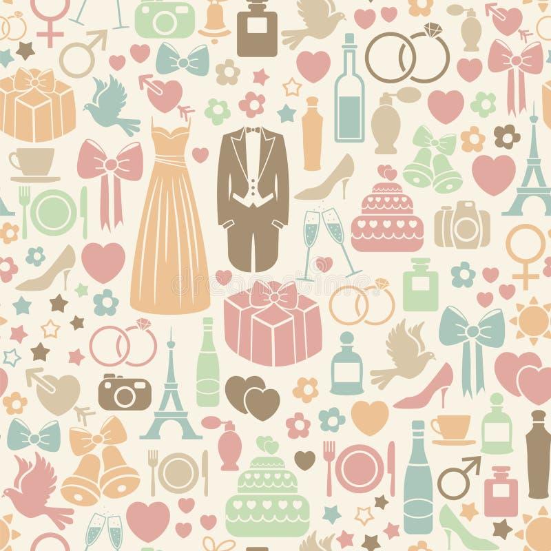 Modelo de la boda stock de ilustración