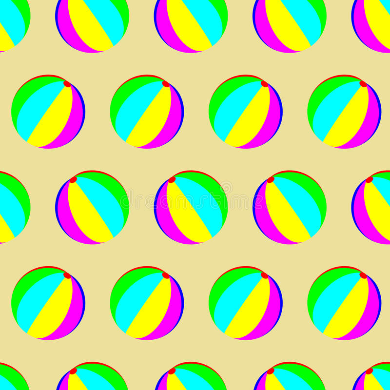 Modelo de la bola del juguete inconsútil stock de ilustración