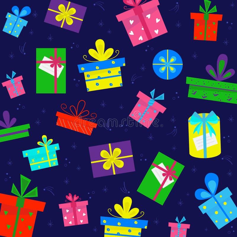 Modelo de la caja de regalo libre illustration