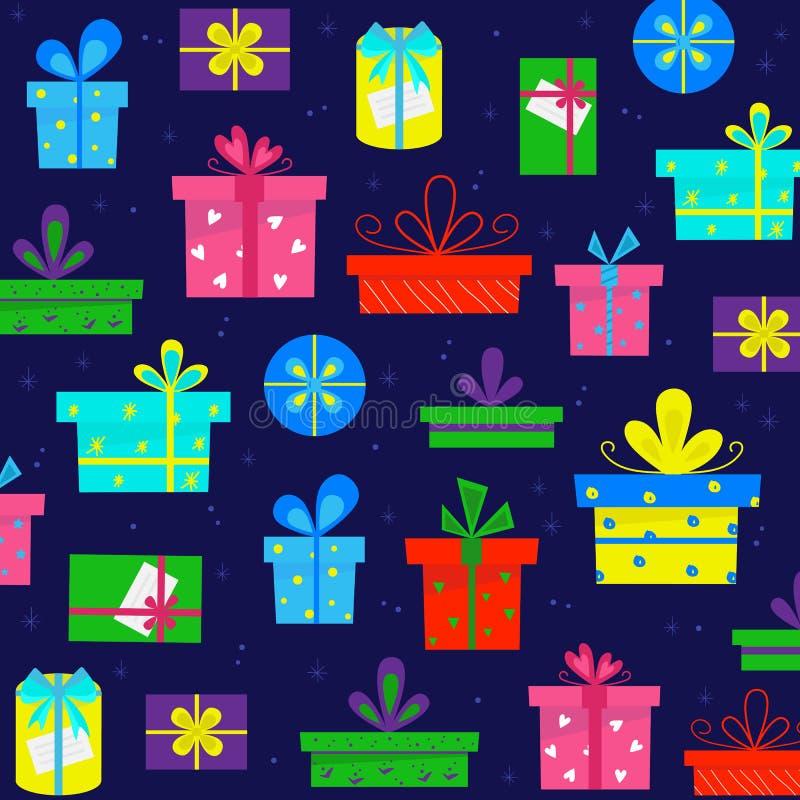 Modelo de la caja de regalo stock de ilustración