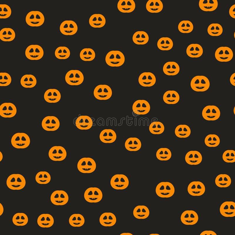 Modelo de la calabaza de Halloween Fondo inconsútil del día de fiesta del vector ilustración del vector
