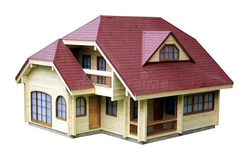 Modelo de la casa fotografía de archivo