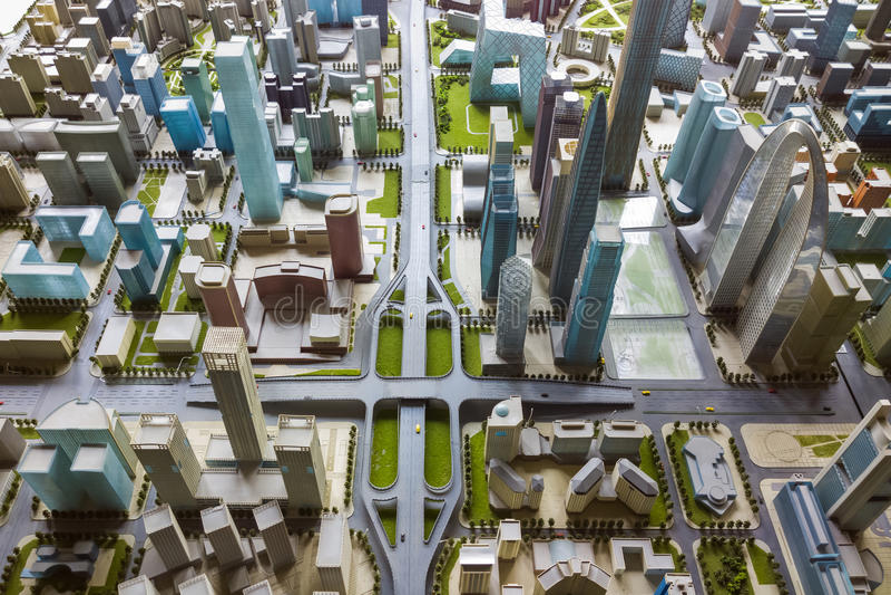 Modelo de la ciudad imagen de archivo