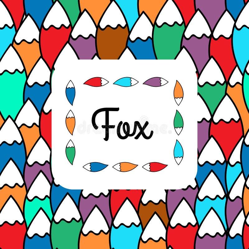 Download Modelo de la cola del Fox ilustración del vector. Ilustración de gráfico - 64211459