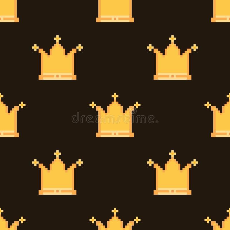 Modelo de la corona del pixel stock de ilustración