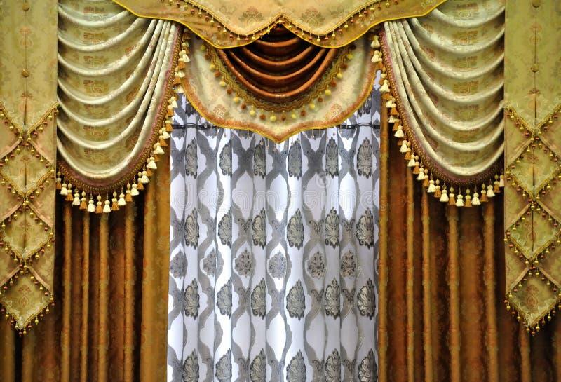 Modelo de la cortina imagen de archivo