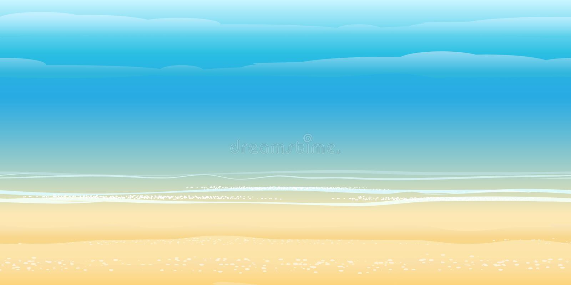 Modelo de la costa stock de ilustración