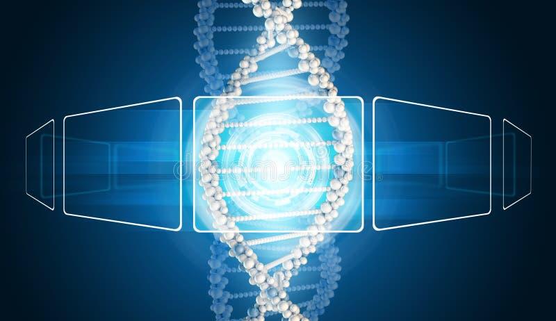 Modelo de la DNA con rectángulos y resplandor transparentes libre illustration
