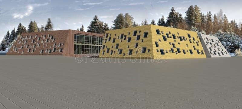 modelo de la escuela 3D imagen de archivo