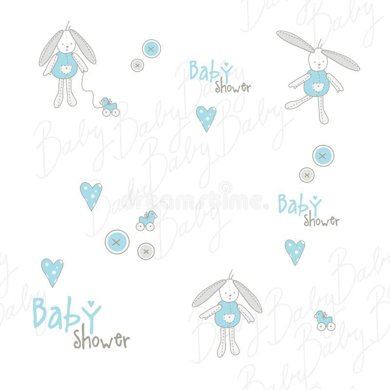 Modelo de la fiesta de bienvenida al bebé ilustración del vector