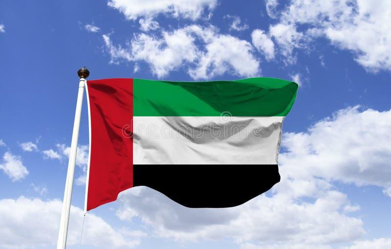 Modelo de la flotación de la bandera de United Arab Emirates stock de ilustración