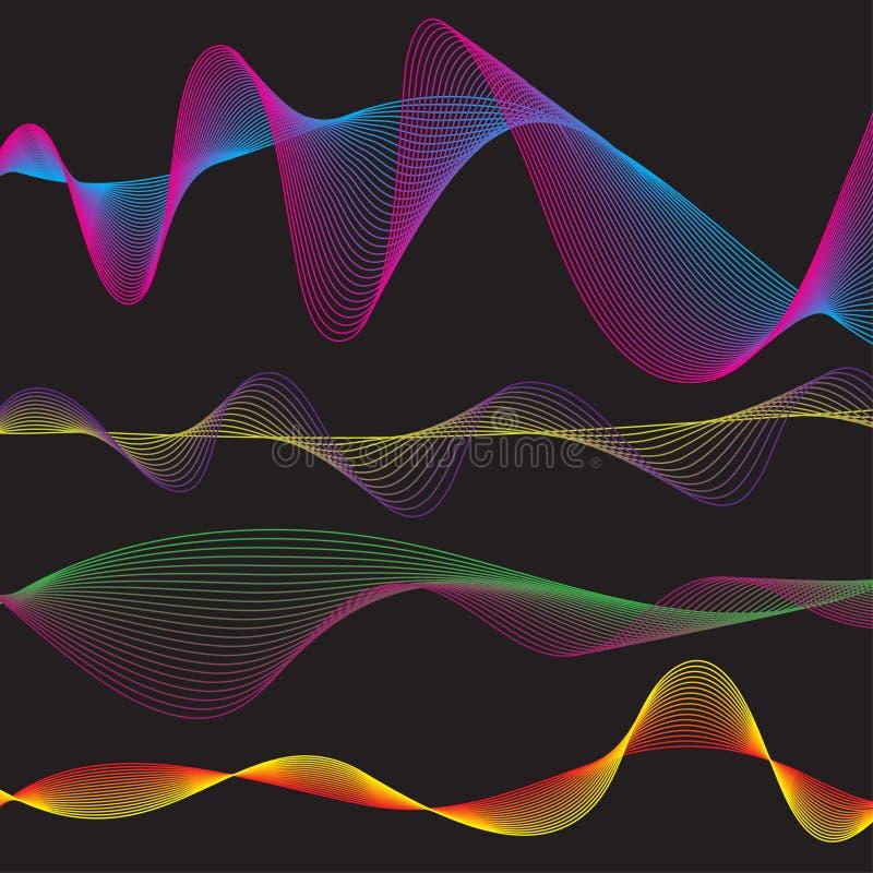Modelo de la forma de onda libre illustration
