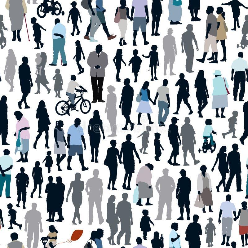Modelo de la gente libre illustration