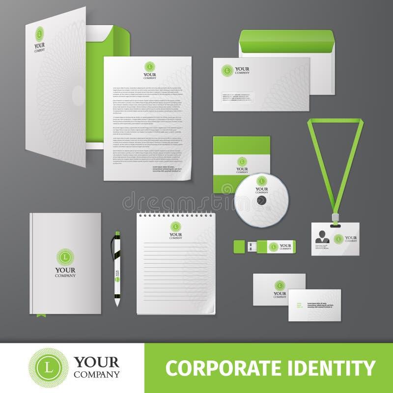 Modelo de la identidad corporativa libre illustration