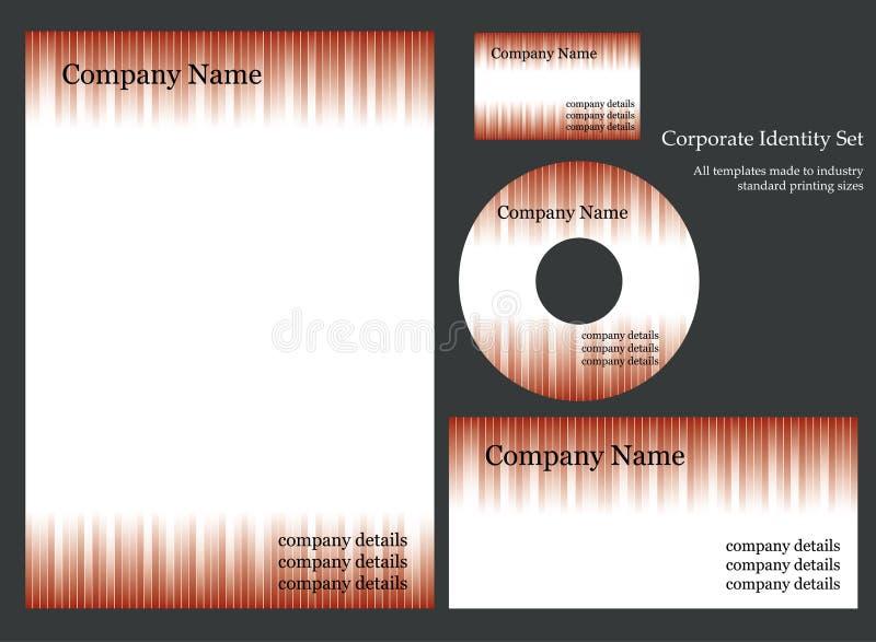 Plantilla de la identidad corporativa foto de archivo libre de regalías