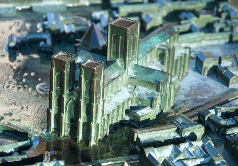 Modelo de la iglesia de monasterio de York fotos de archivo