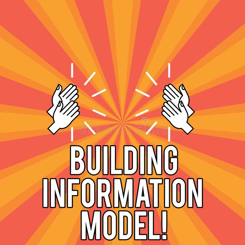 Modelo de la información del edificio del texto de la escritura Representación de Digitaces del significado del concepto del dibu stock de ilustración