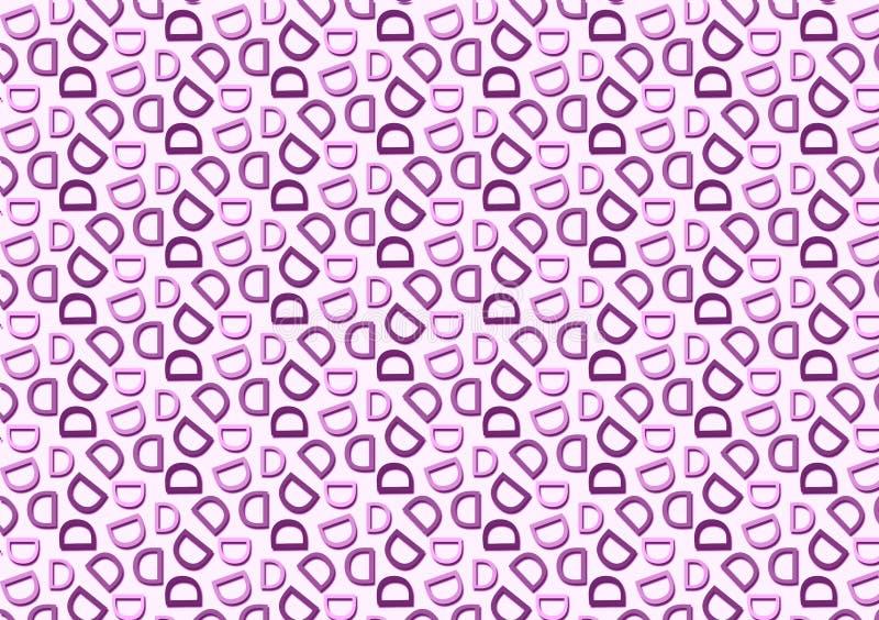 Modelo de la letra D en diverso modelo púrpura coloreado de las sombras ilustración del vector