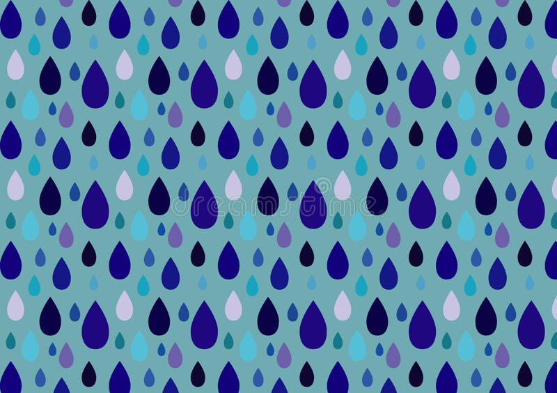 Modelo de la lluvia ilustración del vector