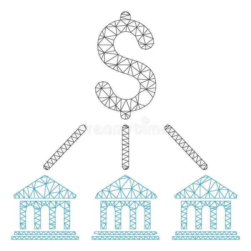 Modelo de la malla del vector de la organización del banco 2.o stock de ilustración