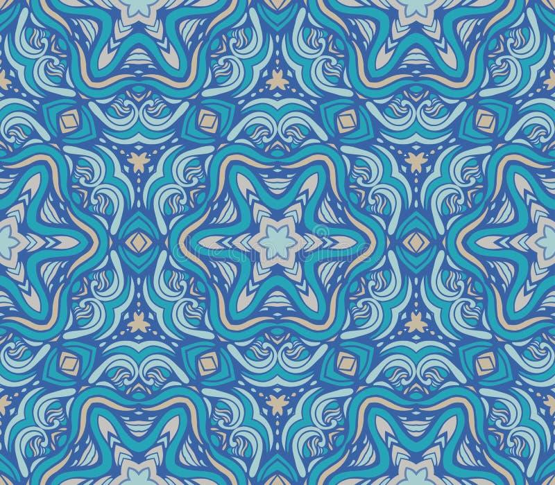 Modelo de la mandala abstracta colorida shapes10 stock de ilustración