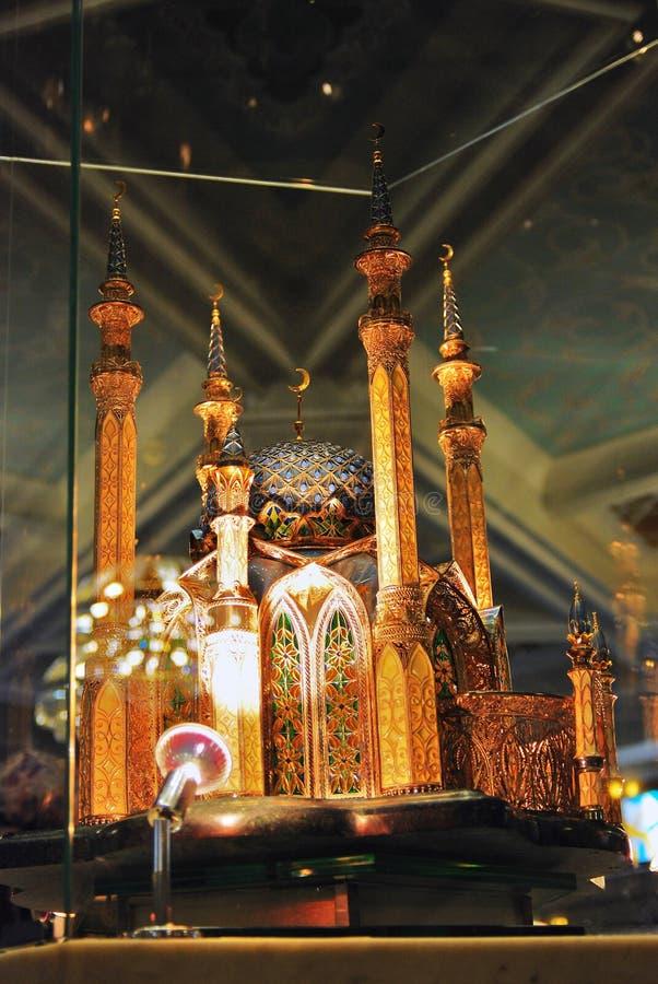 Modelo de la mezquita de Kul Sharif mostrado dentro de la mezquita de Kol Sharif foto de archivo