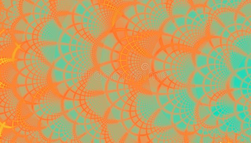 Modelo de la naranja y del trullo del fractal del cordón libre illustration