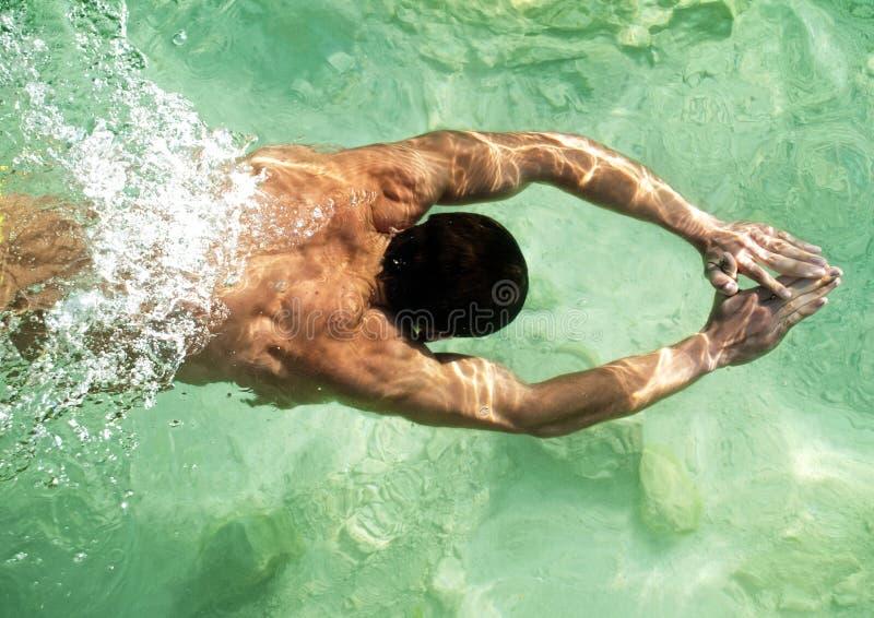 Modelo de la natación fotos de archivo