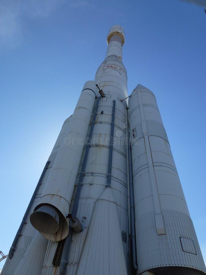 Modelo de la nave espacial en Sevilla fotografía de archivo