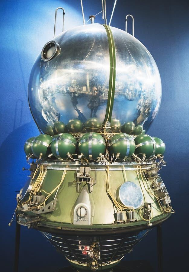 Modelo de la nave espacial Vostok foto de archivo