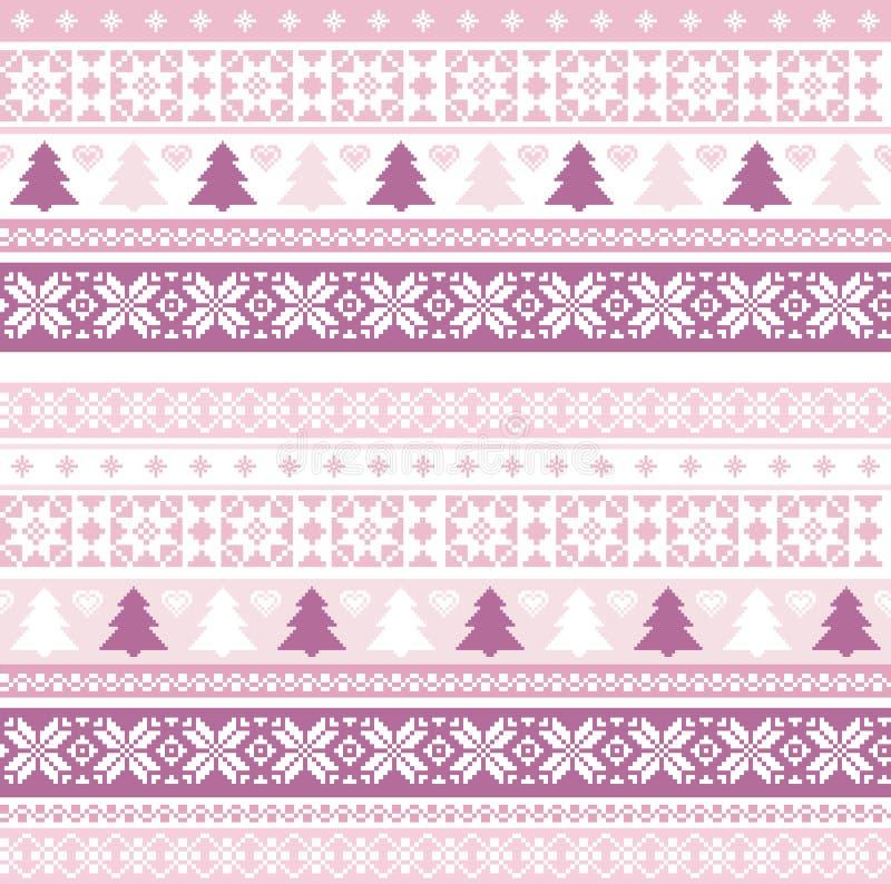 Modelo de la Navidad con adornos tradicionales ilustración del vector