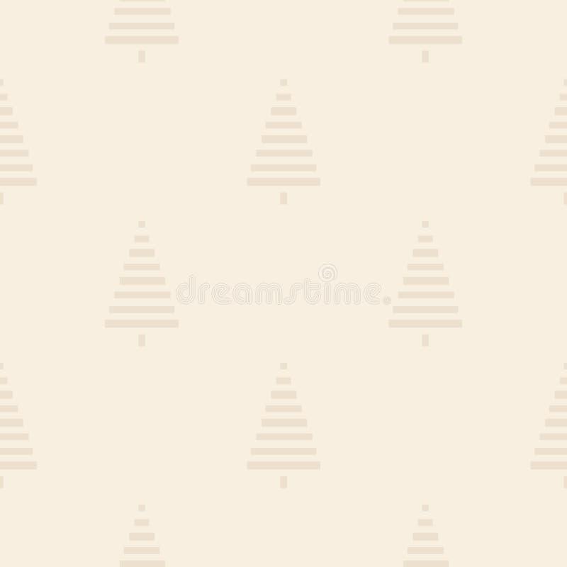 Modelo de la Navidad con los árboles Simple, ejemplo inconsútil del fondo del invierno ilustración del vector