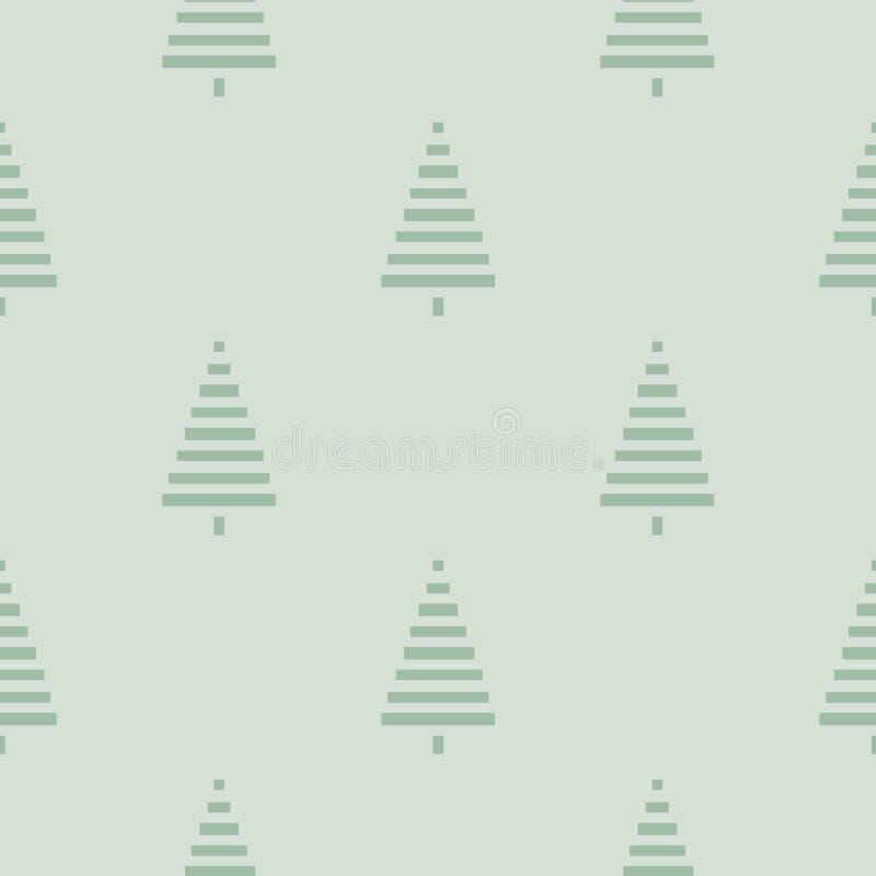 Modelo de la Navidad con los árboles Simple, ejemplo inconsútil del fondo del invierno stock de ilustración