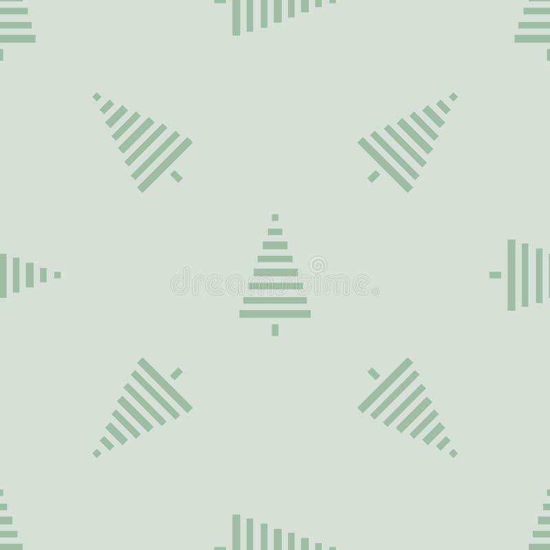 Modelo de la Navidad con los árboles Simple, ejemplo inconsútil del vector del fondo del invierno ilustración del vector