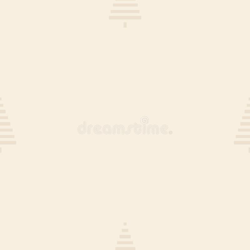 Modelo de la Navidad con los árboles Simple, ejemplo inconsútil del vector del fondo del invierno libre illustration