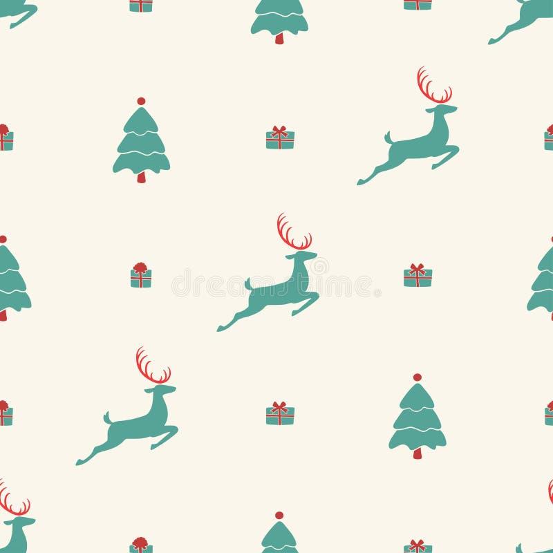 Modelo de la Navidad, diseño inconsútil Feliz decorat de la tarjeta ilustración del vector