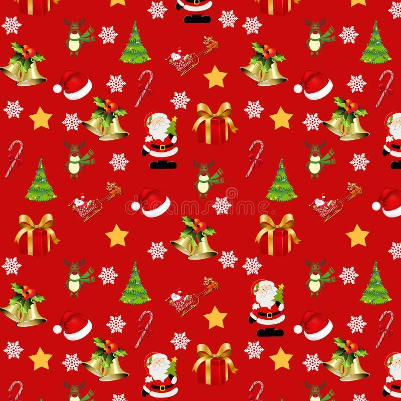 Modelo de la Navidad en fondo rojo libre illustration