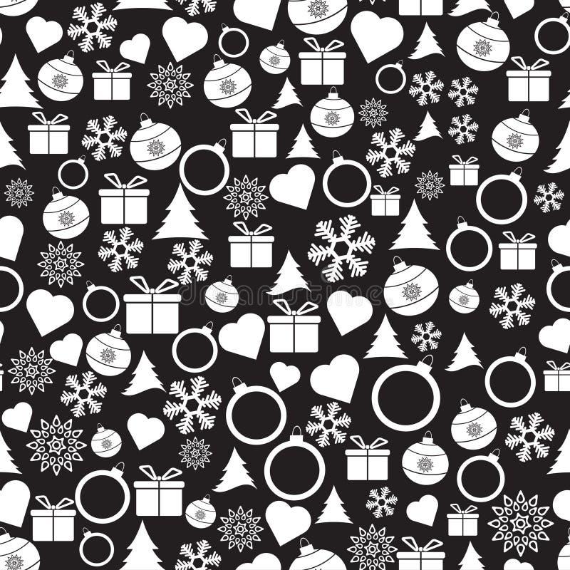 Modelo de la Navidad inconsútil del vector y del Año Nuevo libre illustration