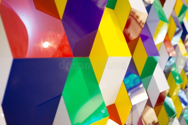 Modelo de la pared geométrica fotografía de archivo libre de regalías