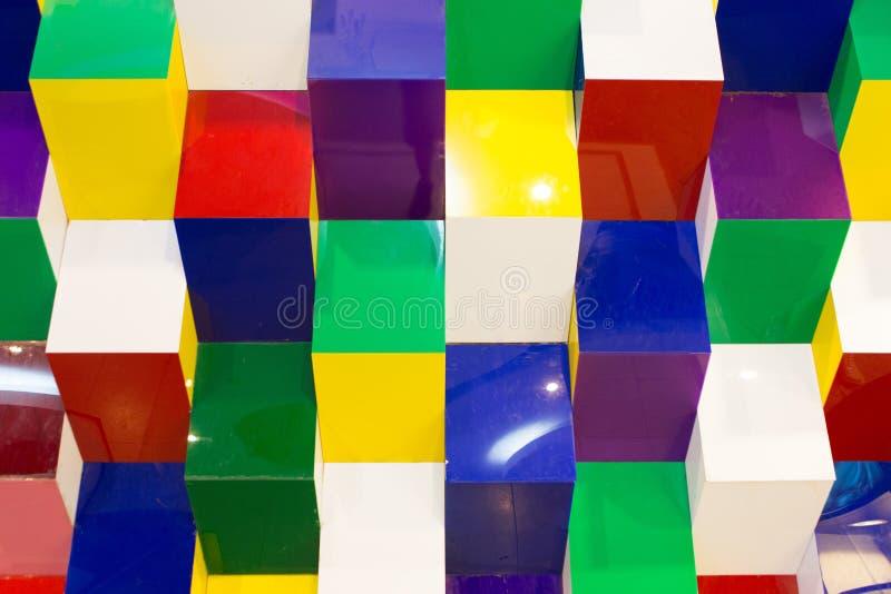 Modelo de la pared geométrica fotografía de archivo