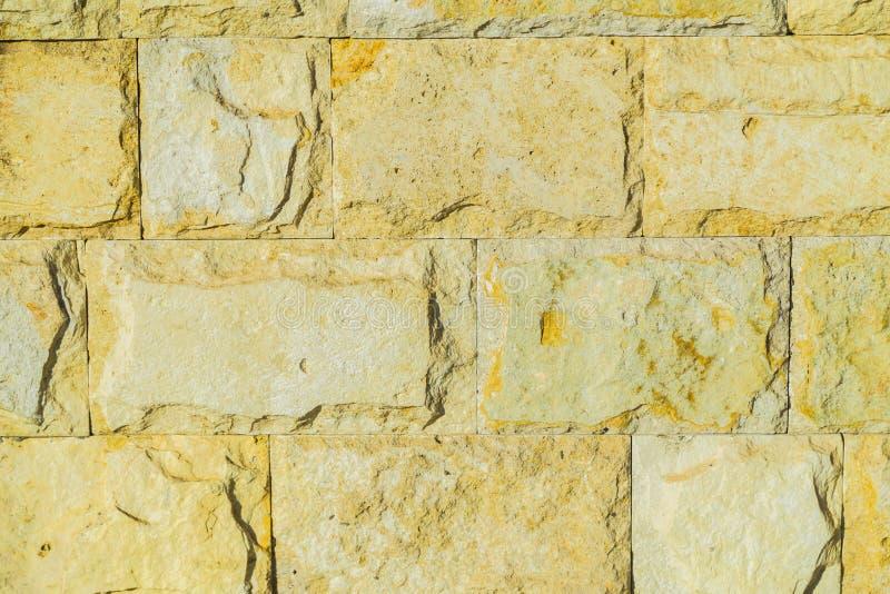 Modelo de la pared de piedra Ladrillos concretos grandes afuera fotografía de archivo libre de regalías