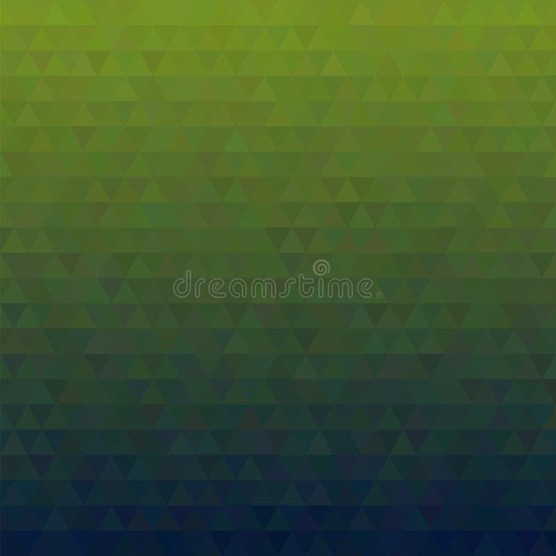 Modelo de la pendiente de triángulos stock de ilustración