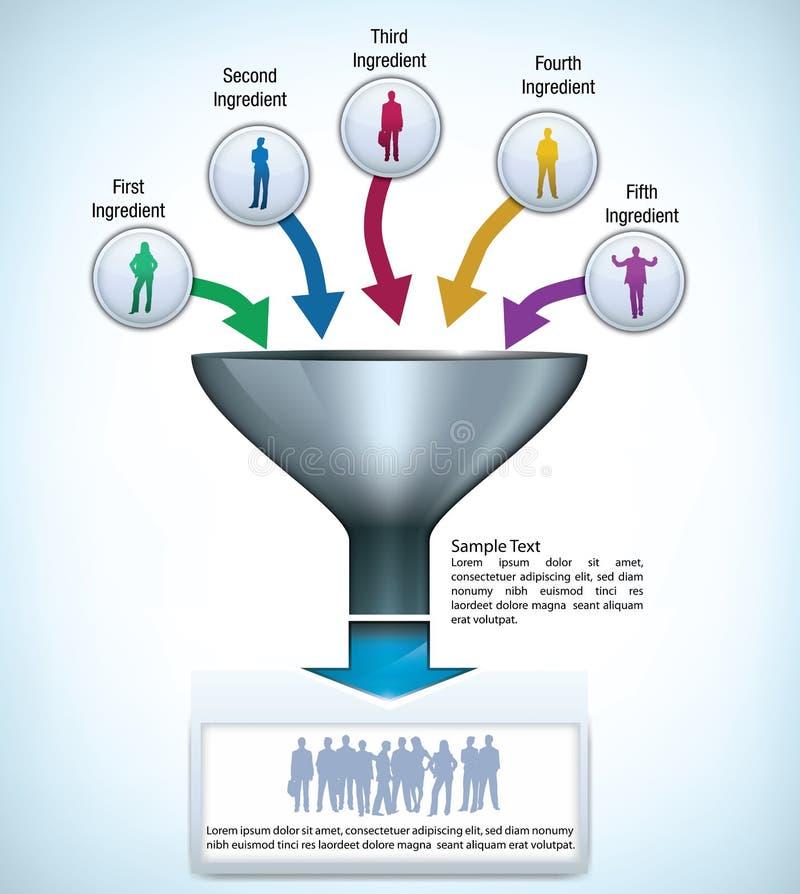 Modelo de la presentación del embudo ilustración del vector
