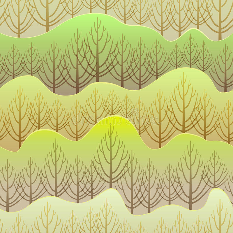 Modelo de la primavera del vector ilustración del vector