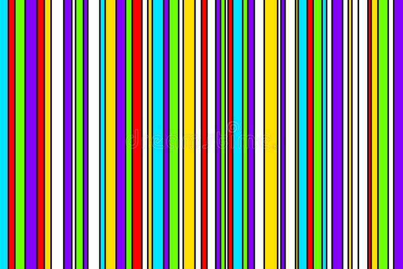 Modelo de la raya con colores brillantes ilustración del vector